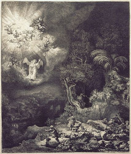 511px-Rembrandt_van_Rijn_-_The_Angel_Appearing_to_the_Shepherds