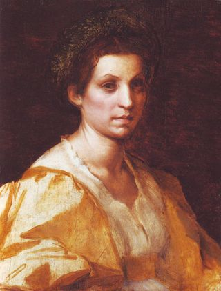 ANDREA DEL SARTO-XX-Portrait of a woman in yellow