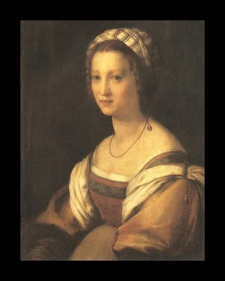 Del Sarto Painting, Portrait of the Artists Wife