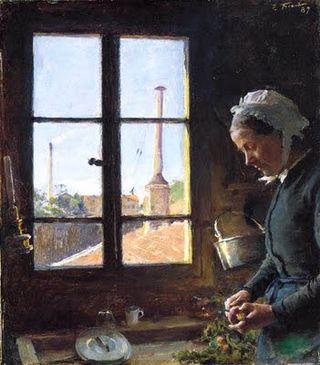 Emile_Friant_Portrait_de_sa_mere_epluchant_un_navet,_devant_une_fenetre_1887