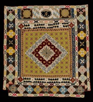 Bishops Court quilt, Unknown, 1690-1700. Museum no. T