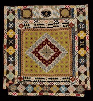 Bishops Court quilt, Unknown, 1690-1700. Museum no. T
