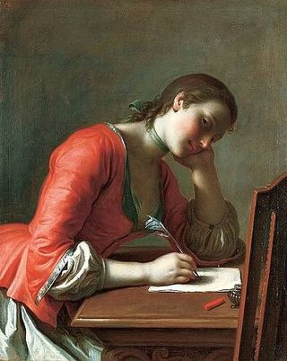 Younggirlwritingaqloveletter