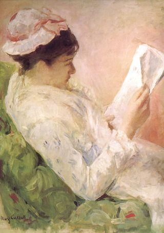 Cassattwomanreading