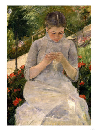 Mary-cassatt-young-girl-in-the-garden-woman-sewing-c-1880