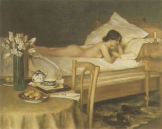 Reading-in-bed-by-hermann-fenner-behmer