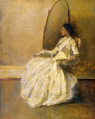 Lady-in-white-(no.-1)_painter-thomas-wilmer-dewing-420x525
