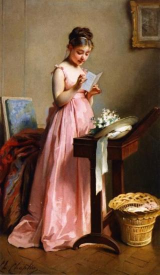 Charles Chaplin - Girl Reading